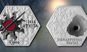 """Latvijas Banka izlaiž kolekcijas monētu """"Ziemassvētku kaujas"""""""