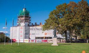 Turpinās Siguldas Jaunās pils pārbūves un restaurācijas darbi