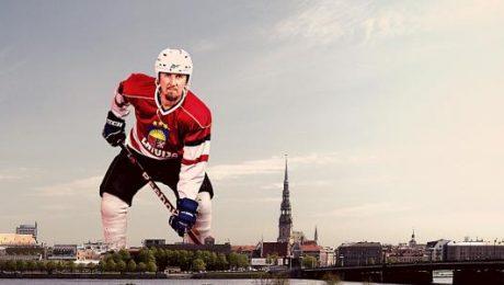 Buks Latvijas hokejam velta enerģisku rokdziesmu